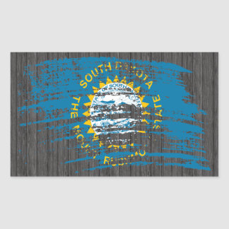 Cool South Dakotan flag design Rectangular Sticker