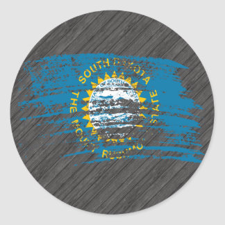 Cool South Dakotan flag design Round Stickers