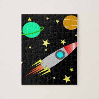 Cool Space Rocket Planets Stars Children's Jigsaw Puzzle