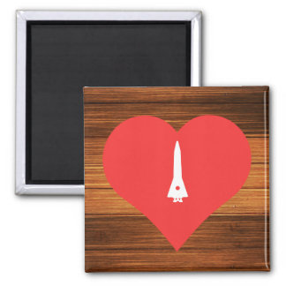 Cool Space Shuttles Pictograph Square Magnet