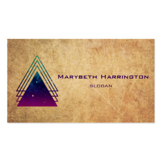 Cool Space Triangles on Grunge Background Pack Of Standard Business Cards
