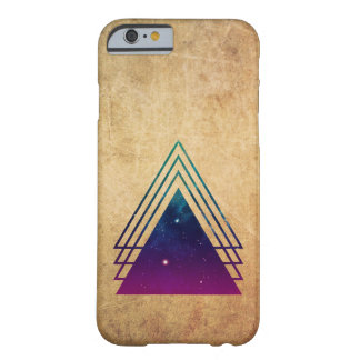 Cool Space Triangles on Grunge Background Barely There iPhone 6 Case