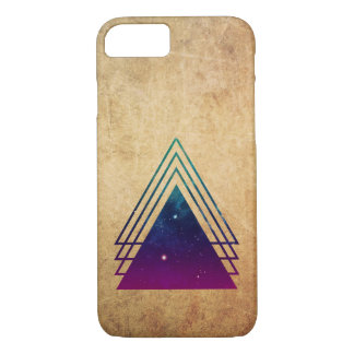 Cool Space Triangles on Grunge Background iPhone 7 Case