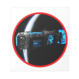 Cool Spaceship Notepad
