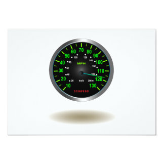 Cool Speedometer Emblem 13 Cm X 18 Cm Invitation Card