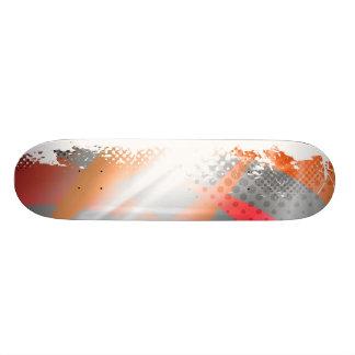 Cool Splatter Halftone Background Custom Skateboard