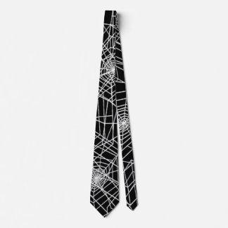 Cool Spooky Spider Web Satin Necktie