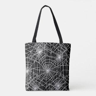 Cool Spooky Spider Webs Tote Bag