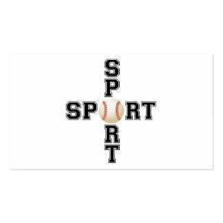 Cool Sport Baseball Cross Double-Sided Standard Business Cards (Pack Of 100)