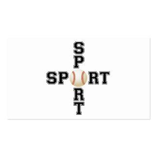 Cool Sport Baseball Cross Pack Of Standard Business Cards