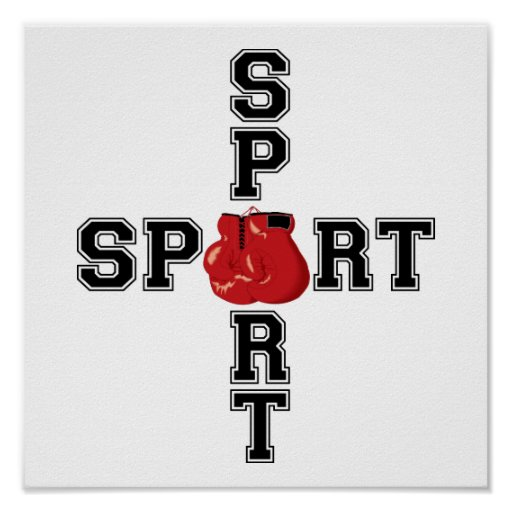 Cool Sport Boxing Cross Posters