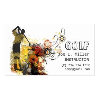 Cool Sports Urban Grunge Modern Golf Pack Of Standard Business Cards