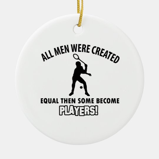 cool squash player design christmas ornament