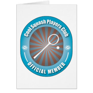 Cool Squash Players Club Greeting Card