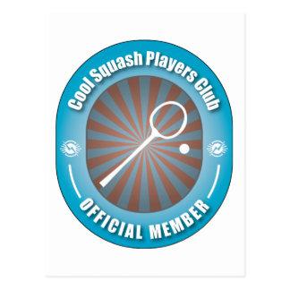 Cool Squash Players Club Postcard