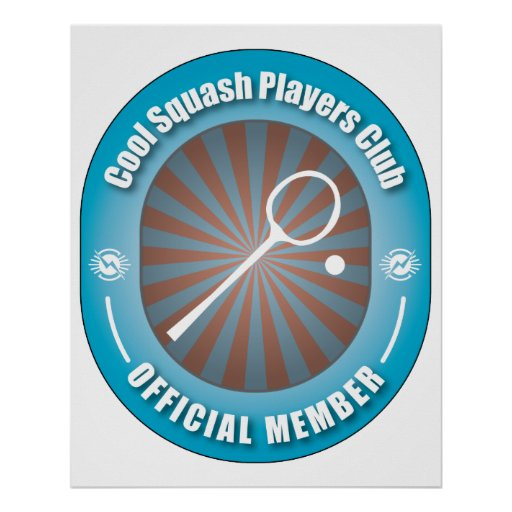 Cool Squash Players Club Posters