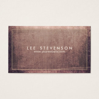 Cool Sratched Aged and Rustic Grunge Professional Business Card