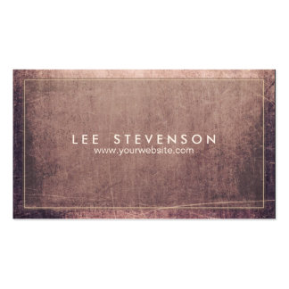 Cool Sratched Aged and Rustic Grunge Professional Pack Of Standard Business Cards