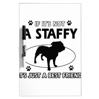 Cool staffy designs dry erase boards