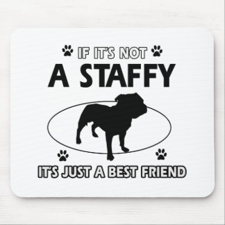 Cool staffy designs mousepad