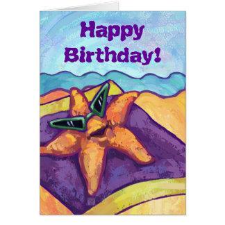 Cool Starfish Happy Birthday Card