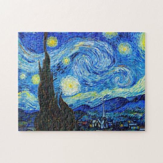 Cool Starry Night Vincent Van Gogh painting Jigsaw