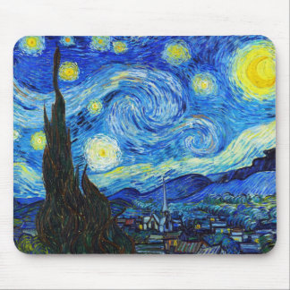 Cool Starry Night Vincent Van Gogh painting Mouse Mat