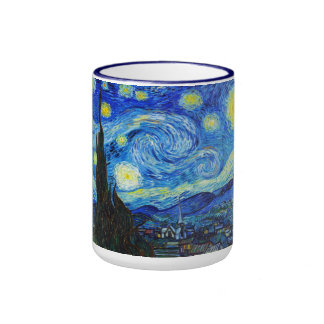 Cool Starry Night Vincent Van Gogh painting Coffee Mugs