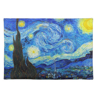 Cool Starry Night Vincent Van Gogh painting Placemat