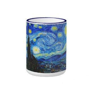 Cool Starry Night Vincent Van Gogh painting Ringer Mug