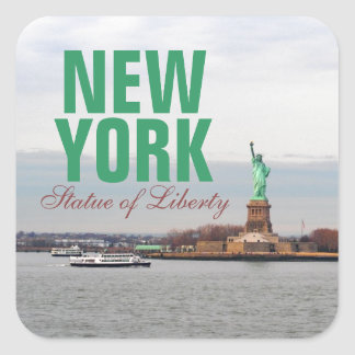 Cool Statue of Liberty - NY New York Square Sticker