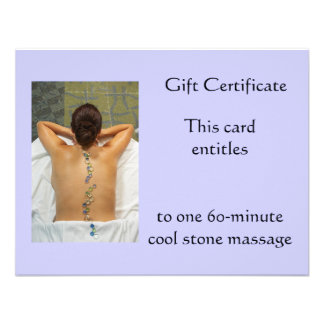 Cool Stone Gift Certificate Personalized Announcements