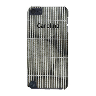 Cool Stones Rocks Behind Metal Grate Pattern Skins iPod Touch (5th Generation) Cases