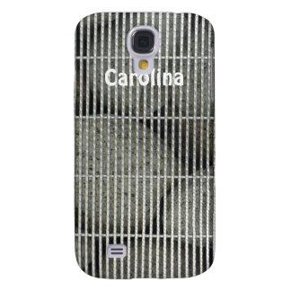 Cool Stones Rocks Behind Metal Grate Pattern Skins Samsung Galaxy S4 Covers
