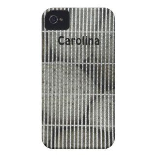 Cool Stones Rocks Behind Metal Grate Pattern Skins Case-Mate iPhone 4 Cases