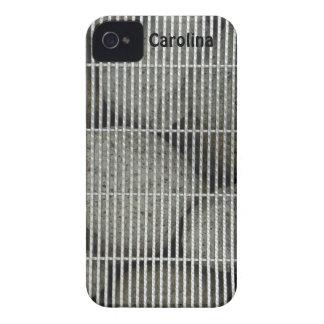 Cool Stones Rocks Behind Metal Grate Pattern Skins iPhone 4 Cases