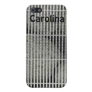 Cool Stones Rocks Behind Metal Grate Pattern Skins iPhone 5 Covers