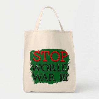 Cool Stop War Bag! Grocery Tote Bag
