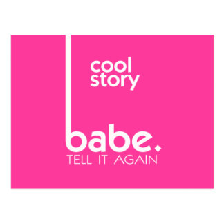 COOL STORY BABE Modern Style Postcard