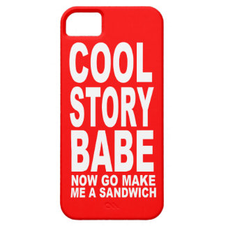 COOL STORY BABE NOW GO MAKE BE A SANDWICH iPhone 5 CASE