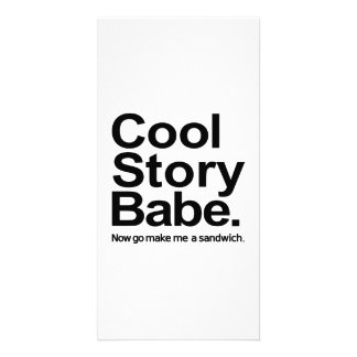 Cool story babe photo cards