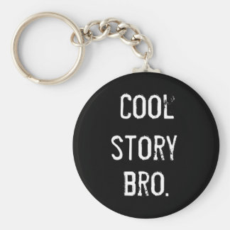 Cool Story Basic Round Button Key Ring