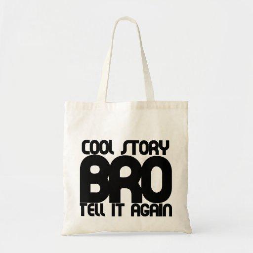 Cool story bro canvas bag