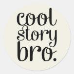 Cool Story Bro Cream Stickers
