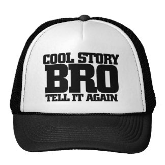 Cool story bro mesh hats