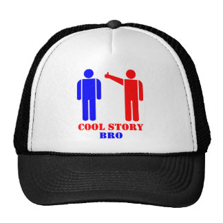 Cool Story Bro Ism Mesh Hats