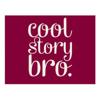 Cool Story Bro Maroon Postcard