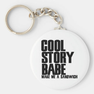 Cool Story Bro Parody Basic Round Button Key Ring