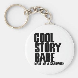 Cool Story Bro Parody Basic Round Button Key Ring