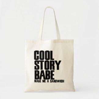 Cool Story Bro Parody Tote Bag